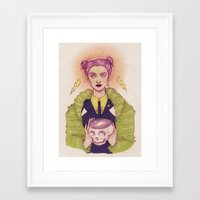 witch Framed Art Prints featuring Witch by Vortex Vixen