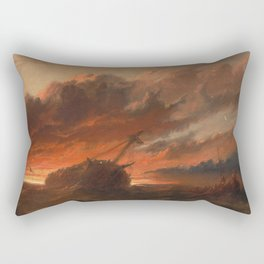 Francis Danby - Shipwreck Rectangular Pillow