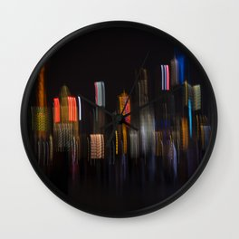 Shanghai Skyline II Wall Clock