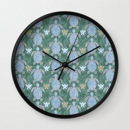 Turtles and Starfish Wall Clock