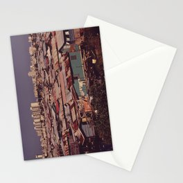'MODERN BUILDINGS TOWER OVER THE SHANTIES CROWDED ALONG THE MARTIN PENA CANAL' Stationery Cards