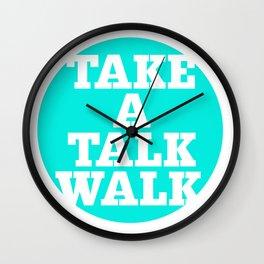 take a talk walk - MINT Wall Clock