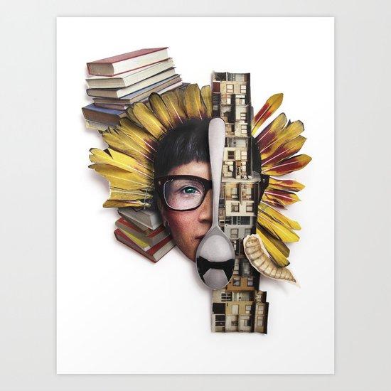 Timber   Collage Art Print