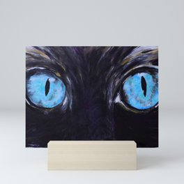 Sass: The Eyes of a Long-Haired Cat Mini Art Print