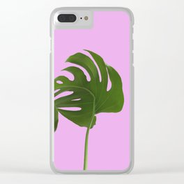 Monstera madness II Clear iPhone Case