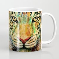 tiger Mugs featuring Tiger by nicebleed
