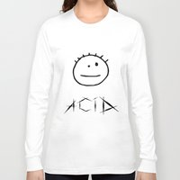 acid Long Sleeve T-shirts featuring Acid by Komrod
