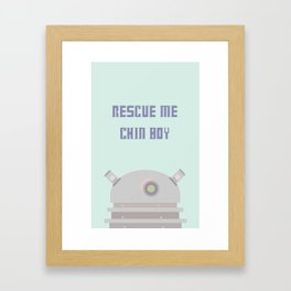 Rescue Me Chin Boy Framed Art Print