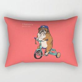 Haters Gonna Hate English Bulldog Rectangular Pillow