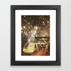 Enter the night  Framed Art Print