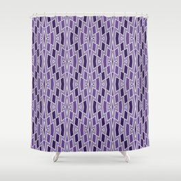 Fragmented Diamond Pattern in Violet Shower Curtain