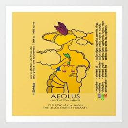 AEOLUS (god of the winds) Art Print