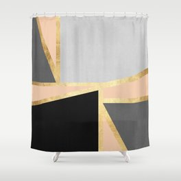 Gold collage XIII Shower Curtain