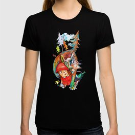 Little Red Riding Hood and the Wolf 01 T-shirt