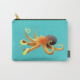 Geometric Octopus - Modern Animal Art Carry-All Pouch