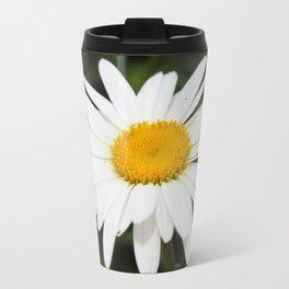 Bright White Daisy Travel Mug