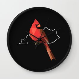 Kentucky – Northern Cardinal (Black) Wall Clock