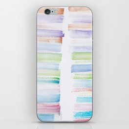 23  | 181101 Watercolour Palette Abstract Art | Lines | Stripes | iPhone Skin