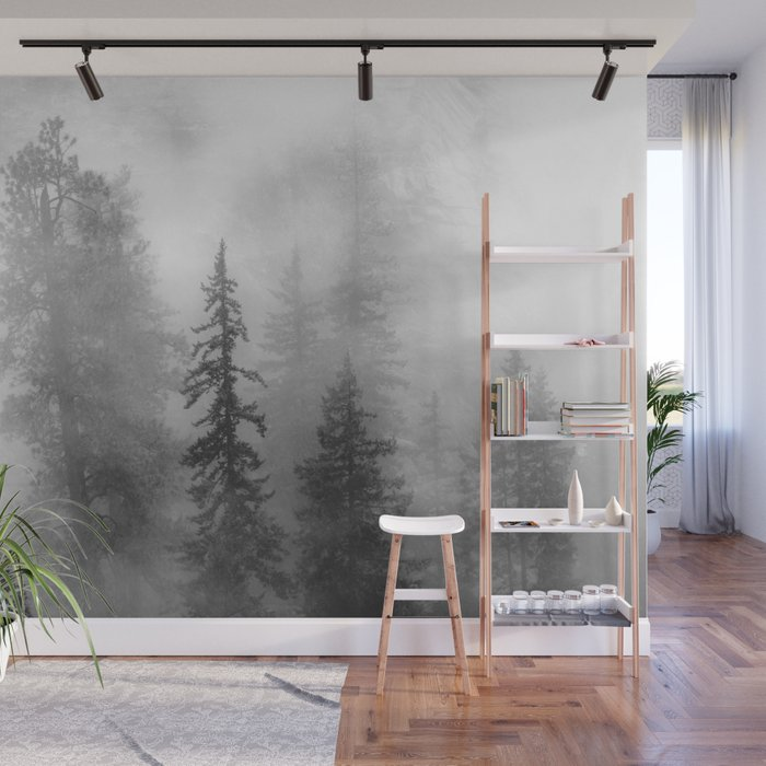 Forest In The Clouds - Nature Photography Wall Mural