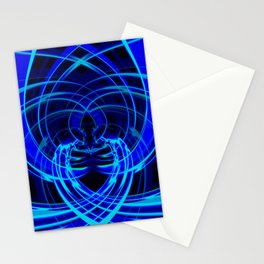 Blue abstraction Stationery Cards