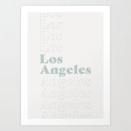 Los Angeles Type - Blue Art Print
