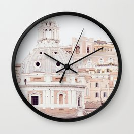 Pale Rome Wall Clock