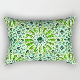 Geometric gemstones (emerald) Rectangular Pillow