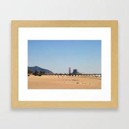 Power Station Beach Framed Art Print