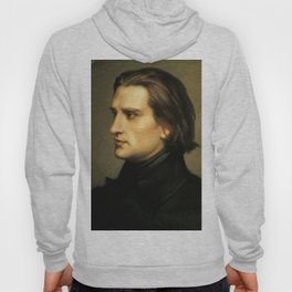 Franz Liszt (1811-1886) at 29. Painting by Charles Laurent Marechal (1801-1887). Hoody