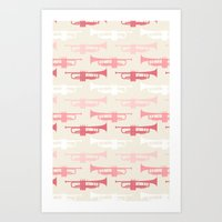 trumpet Art Prints featuring Trumpet by Background Labs