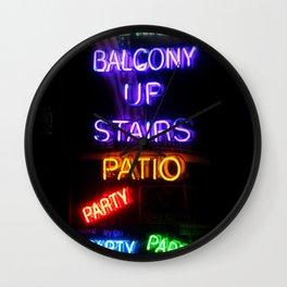 Party on Bourbon Street Wall Clock