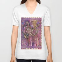 prince V-neck T-shirts featuring Prince by Ray Stephenson