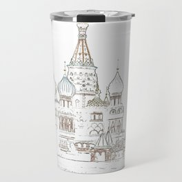 Saint Basil's Cathedral (on white) Travel Mug