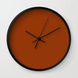 Citrine Brown - solid color Wall Clock