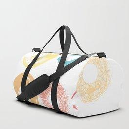 Donut shapes pastel brushes Duffle Bag