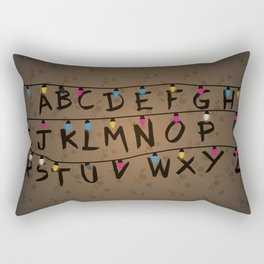 Christmas bulbs alphabet Rectangular Pillow