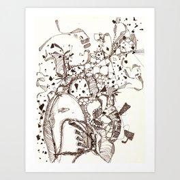 Paper and Pen Art Print