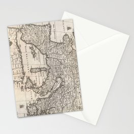 Vintage Map of Europe (1852) Stationery Cards