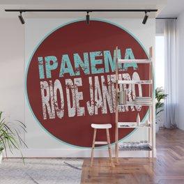 Ipanema, Rio de Janeiro, text, circle Wall Mural