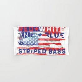 Fishing American Flag Striped Bass Tee Hand & Bath Towel