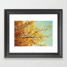 in the land of autumn Framed Art Print