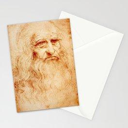 Leonardo Da Vinci self portrait Stationery Cards