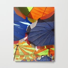 Parasols on a Thailand beach Metal Print