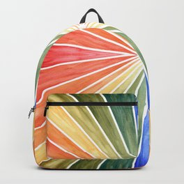 Rainbow Rays Geometric Abstract Tile 1 Backpack