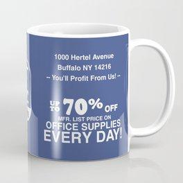 the Paper Cutter Blue Coffee Mug