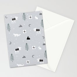 Rustic Arctic Woodlands Stationery Cards