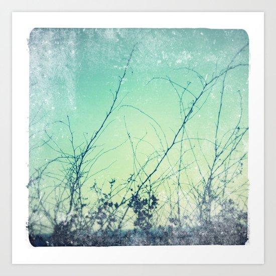 sea plants (teal) Art Print