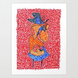 Graffiti Dame Daemon  Art Print