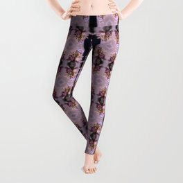 wildflower bouquet, pink pattern Leggings