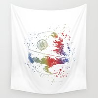 death star Wall Tapestries featuring Death Star Star . Wars by Carma Zoe